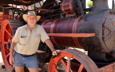 Two Old Workshorses Crank Up At The Historic Village Herberton